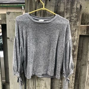 Lucky Brand cute marl grey puff sleeve top S read